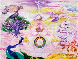 Lemurian dream of fused Atlantean, Lumerian symbolism