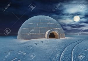 15176711-Igloo-at-night-3D-and-hand-drawing-elements-combined--Stock-Photo