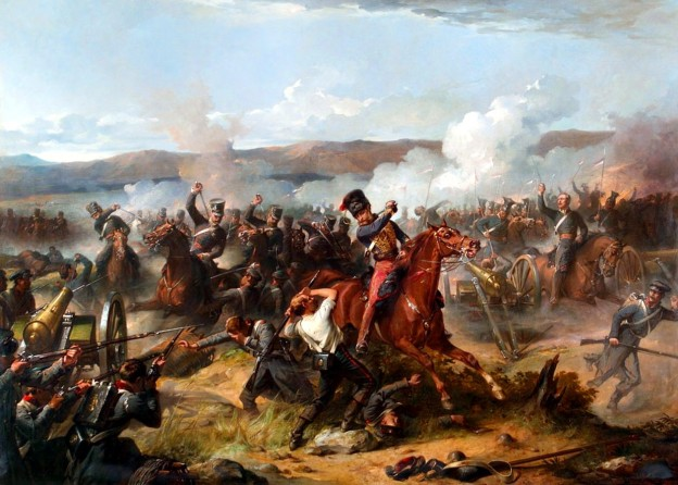 Charge of the Light Brigade by Thomas Jones Barker